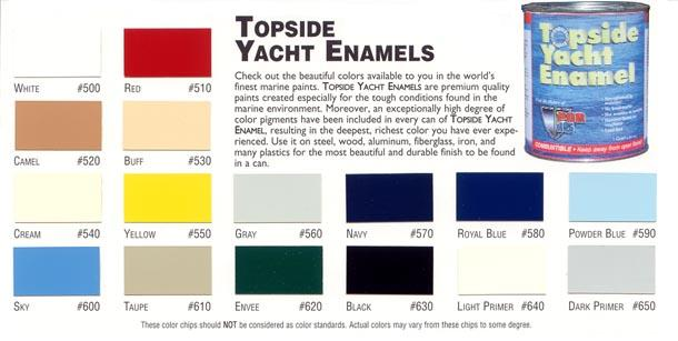 Topside Yacht Enamel Colors
