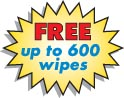 FREE up to 600 wipes